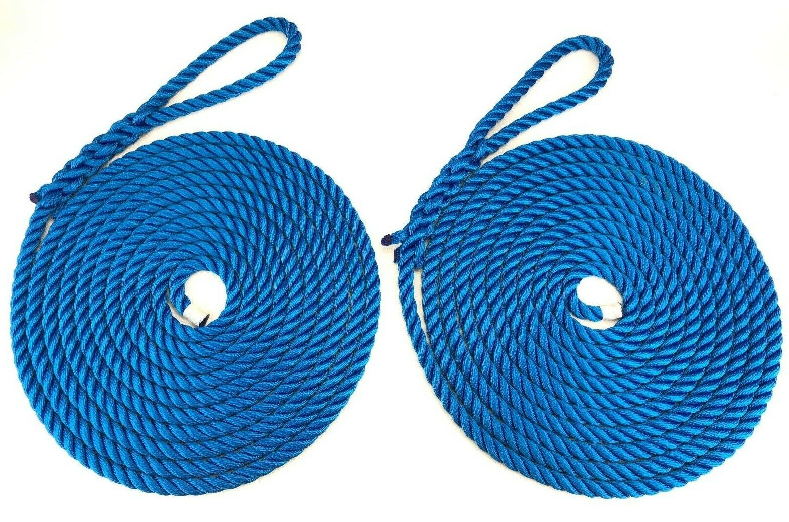 2 x 18 Metres of 14mm Royal bluee Mooring Ropes. Warps, Boat Lines, Yachts, Canal