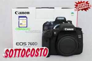 Dettagli su Fotocamera Digitale Reflex Professionale CANON 760D (24 MP)  Wi-Fi SUPER OFFERTA!