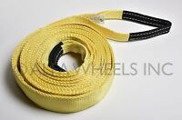 2 20000 Lbs Tow Strap 20 Ft Winch Sling Snatch Vehicle Recovery Free Shipping