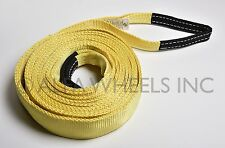 "2"" 9 TON Tow Strap 20 ft winch sling snatch vehicle recovery free shipping"