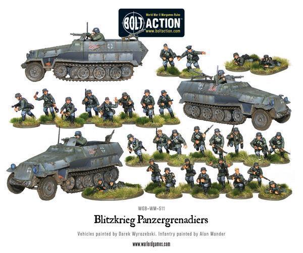 1 56 Escala -blitzkrieg Panzergrenadiers Cofre - Tornillo Acción - Warlords