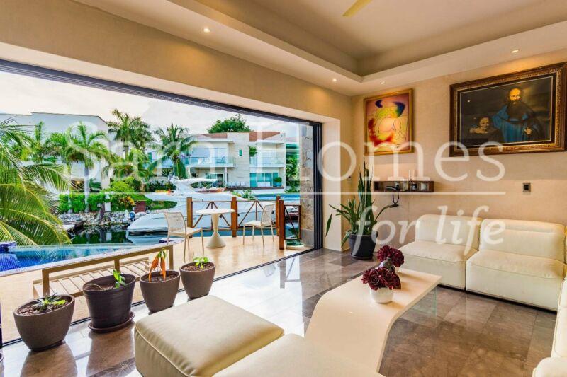 Puerto cancun residencial casa en venta y renta