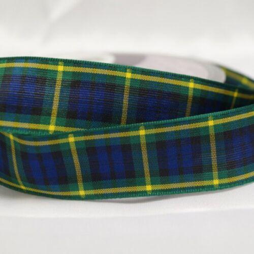 Berisfords Gordon Scottish Woven Tartan Ribbon 7mm 40mm