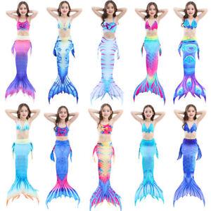 Coda-di-sirena-ragazze-costume-da-bagno-per-piscina-Bikini-Party-in-piscina