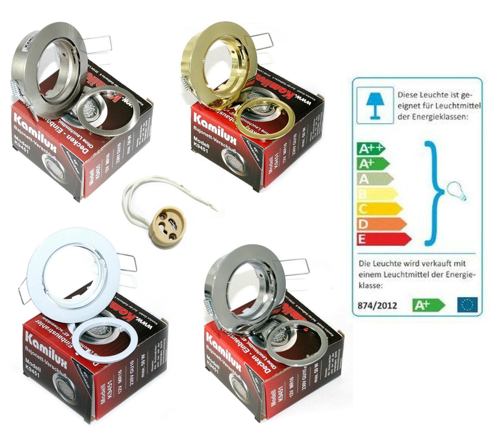 Deckeneinbauleuchte Lana für LED & Halogen Leuchtmittel GU10 230V