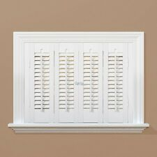 White Interior Shutter Faux Wood Indoor Traditional Window Panel Bar
