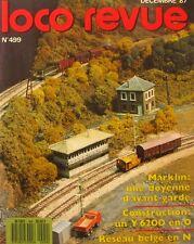 Loco Revue n°499 - 1987 - Märklin - Y 6200 - BB 20011 - Les JAO -