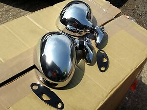 Chrome-door-wing-Mirror-set-Mazda-MX5-mk1-Eunos-l-h-r-h-pair-MX-5-mirrors-NEW