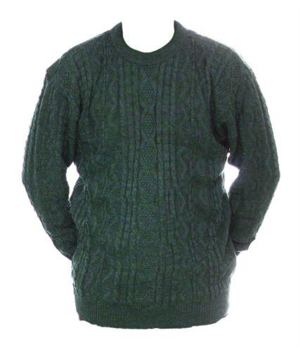 Da Uomo M L NUOVA girocollo Verde Grigio Mix Maglione Lana Acrilico Pullover Maglione Ragazzi