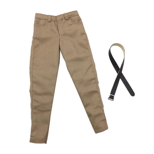 MagiDeal 1//6 Scale Khaki Casual Pants Trousers W// Belt for 12inch Hot Toys