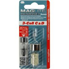 New Maglite Mag-num star II Xenon 3 - cell C & D Bulb Replacement Lamp Genuine
