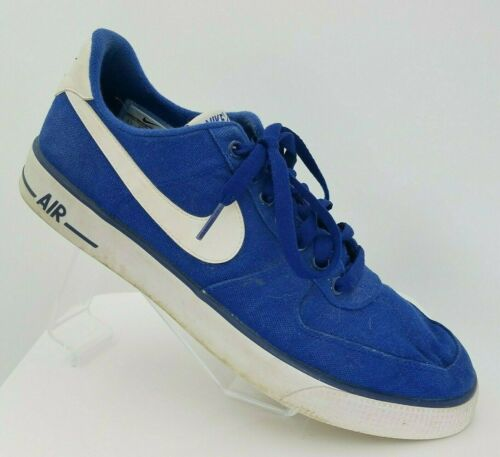 Vintage NIKE Shoes Blue Canvas Running Shoes Air F