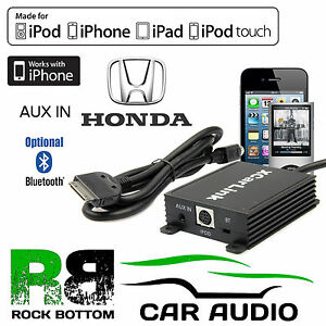 sku194 honda civic 1996 onwards car radio aux in ipod iphone rh ebay co uk
