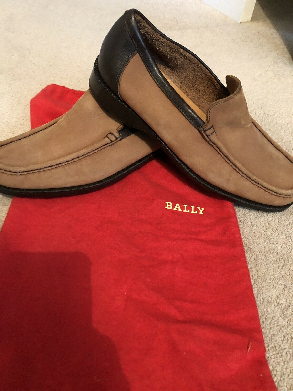 Bally Moccasin shoes In Brown - Size 7 (new)
