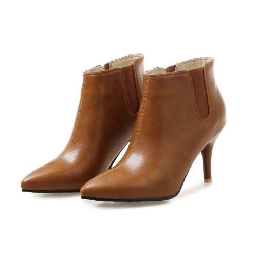 3 Farben Damenstiefeletten Spitz High Heel Pumps Gr.44//48 Slipper OL Business D
