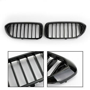 ABS-Glossy-Black-Front-Grille-Grill-Kidney-For-BMW-5-Series-Sedan-G30-2017-2019