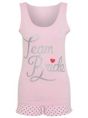Team Bride PJs - Pink, Glitter. Size 16-18