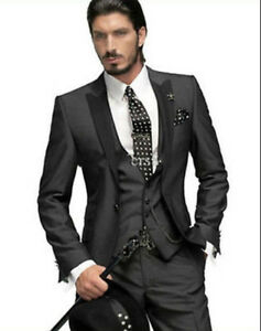 Image Is Loading Men 039 S Wedding Suits Bridal Tuxedos Groom