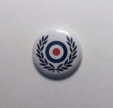 "Wreath Target 1"" Button Pin Badge Scooter Ska Rocksteady Skinhead"