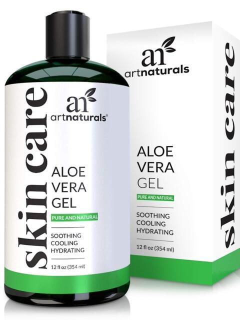 ArtNaturals Organic Aloe Vera Gel - for Face, Hair and Body - 100% Pure Natur...