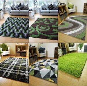 Green Brown Black Grey Modern Soft