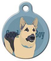 Good Boy German Shepherd - Custom Personalized Pet Id Tag For Dog Collars