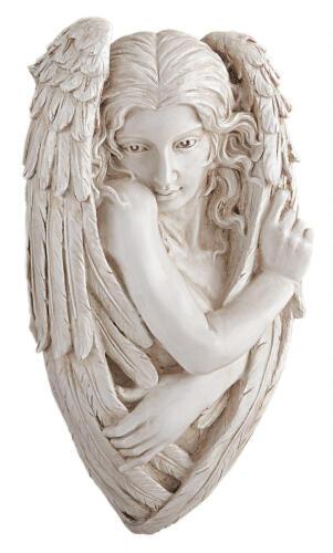 """Peaceful Garden Centerpiece Sweet Cherub Angel Wall Sculpture 24/"""""""