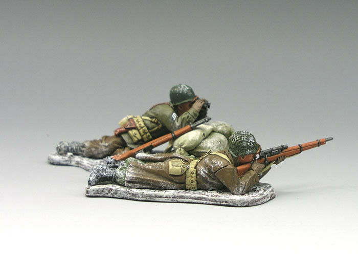 KING AND COUNTRY BBA023 BBA23 WINTER SNIPER TEAM - BATTLE OF THE BULGE 1 30