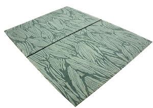 Alfombra-Original-Nepal-Tibet-multa-con-seda-170x240-cm-100-Wolle-verde