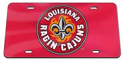Louisiana Ragin Cajuns Logo Color Laser Cut Mirror License