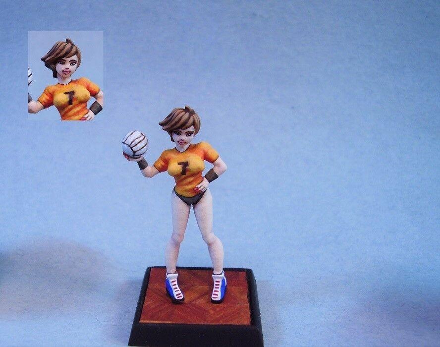 Soda Pop Miniatures Pintado Miniatura Cute Sexy Mujer De Voleibol Reproductor