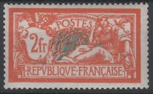 FRANCE-STAMP-TIMBRE-N-145-034-MERSON-2F-ORANGE-ET-VERT-BLEU-034-NEUF-xx-TTB-K448