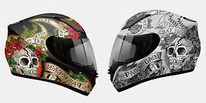 Casco-Integral-MT-Helmets-Revenge-Skull-amp-Roses-Pinlock-XS-S-M-L-XL-XXL