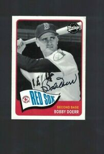 Bobby Doerr Boston Red Sox Signed 2003 UD Vintage Baseball Card W/Our COA