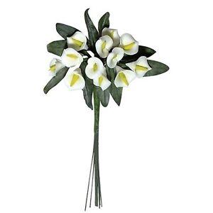 Calla Strausschen 24 Mini Calla Blumen Bouquet Mit Blattern 12cm