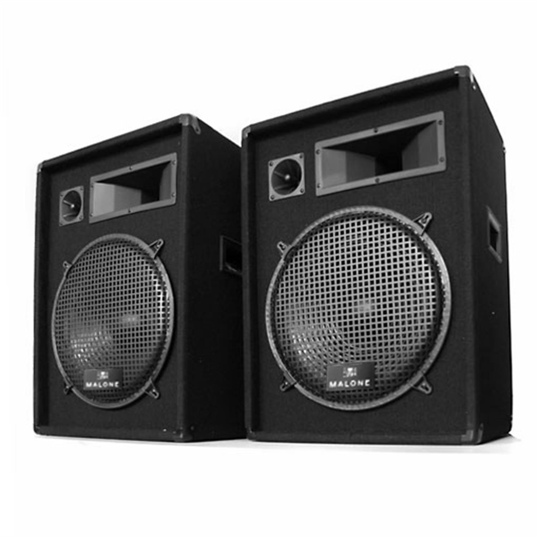 PAIRE ENCEINTES PA AUNA PW-1522 HAUT PARLEUR SONO DISCO DJ 3 VOIES 38CM 2x 800W