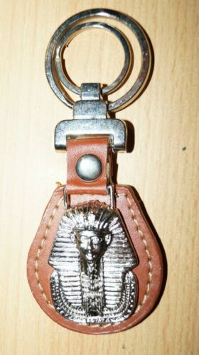10,5 x 4,5 x 1,2 cm Braun King Tut Leder Schlüsselanhänger Tutanchamun