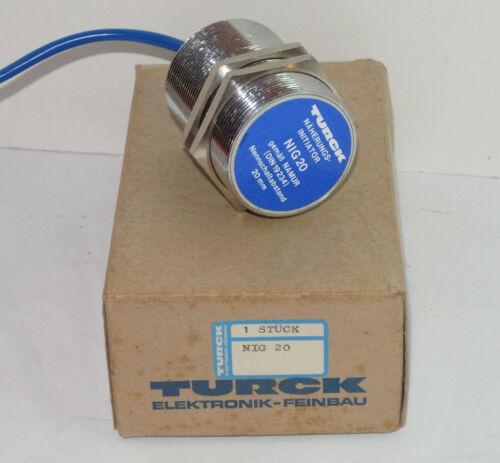 NOS TURCK PROXIMITY SENSOR ANALOG 2-WIRE SENSOR 20mm RANGE FERROUS//NON-FERROUS