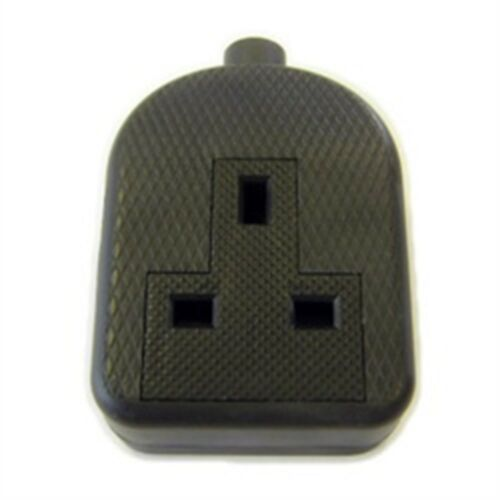 Dencon 13a Bubble Packed Rubber Trailing Socket Black To Bs1363//a