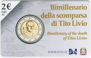 2 Euro commémorative de Italie 2017 Brillant Universel (BU) - Tite-Live