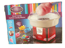 Nostalgia Hard Candy Cotton Candy Maker Household Use Fun Retro Red New