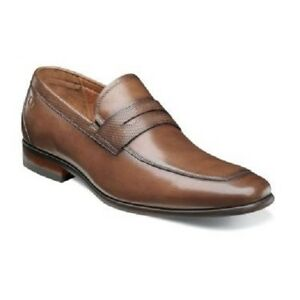 cabfa150ed2 Florsheim Mens Shoes Postino Moc Toe Penny Loafer Cognac leather ...