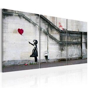 Image is loading Banksy-Graffiti-Canvas-Wall-Art-Print-Home-Decor-  sc 1 st  eBay & Banksy Graffiti Canvas Wall Art Print Home Decor Painting Balloon ...