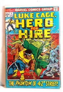 4-LUKE-CAGE-HERO-for-HIRE-1970s-Marvel-Comic-Book-Fine-Very-Fine-LC-04