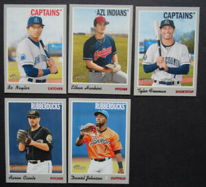 2019-Topps-Heritage-Minor-League-Cleveland-Indians-Base-Team-Set-5-Baseball-Card