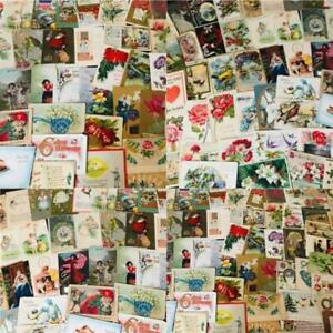 Huge-Lot-of-400-Holidays-Greetings-Postcards-DAMAGED-SCRAPBOOK-CRAFTS