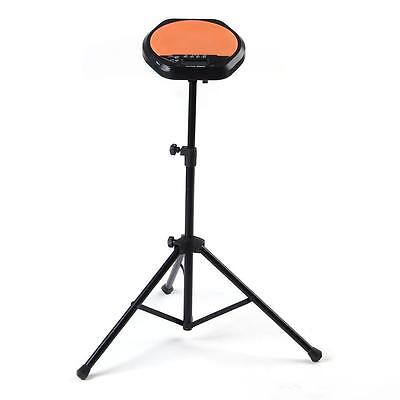 Metal Adjustable Stand for Practice Training Rubber Drum Pad Music Black