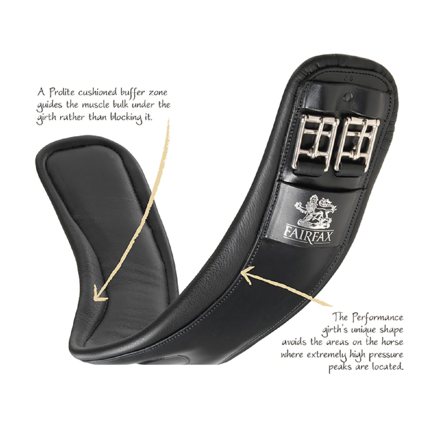 Fairfax le prestazioni in Pelle Corta sottopancia sottopancia sottopancia dressage calibro standard Nero o Marronee | Il materiale di altissima qualità  | Garanzia di qualità e quantità  1a9aa2