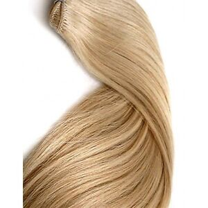 DOUBLE-WEFT-Ash-Blonde-Human-Hair-Extension-Weft-Full-Head-16