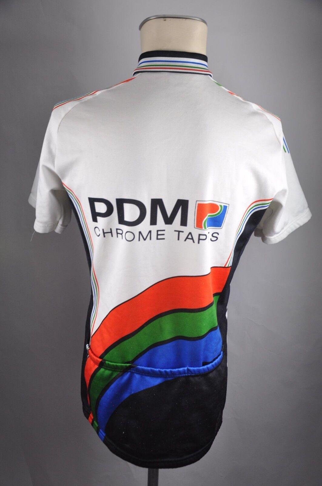 PDM Chrome cintas vintage vintage vintage camiseta talla m-l BW 53cm bike Cycling Jersey camisa hz2 f1e8c3